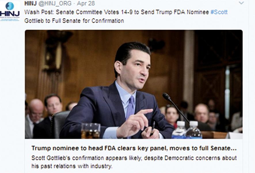 美保守派醫生就任FDA局長 將大力管制毒品