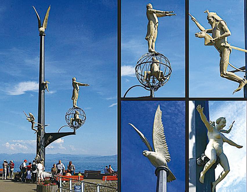 梅爾斯堡湖邊雕塑。(維基百科)