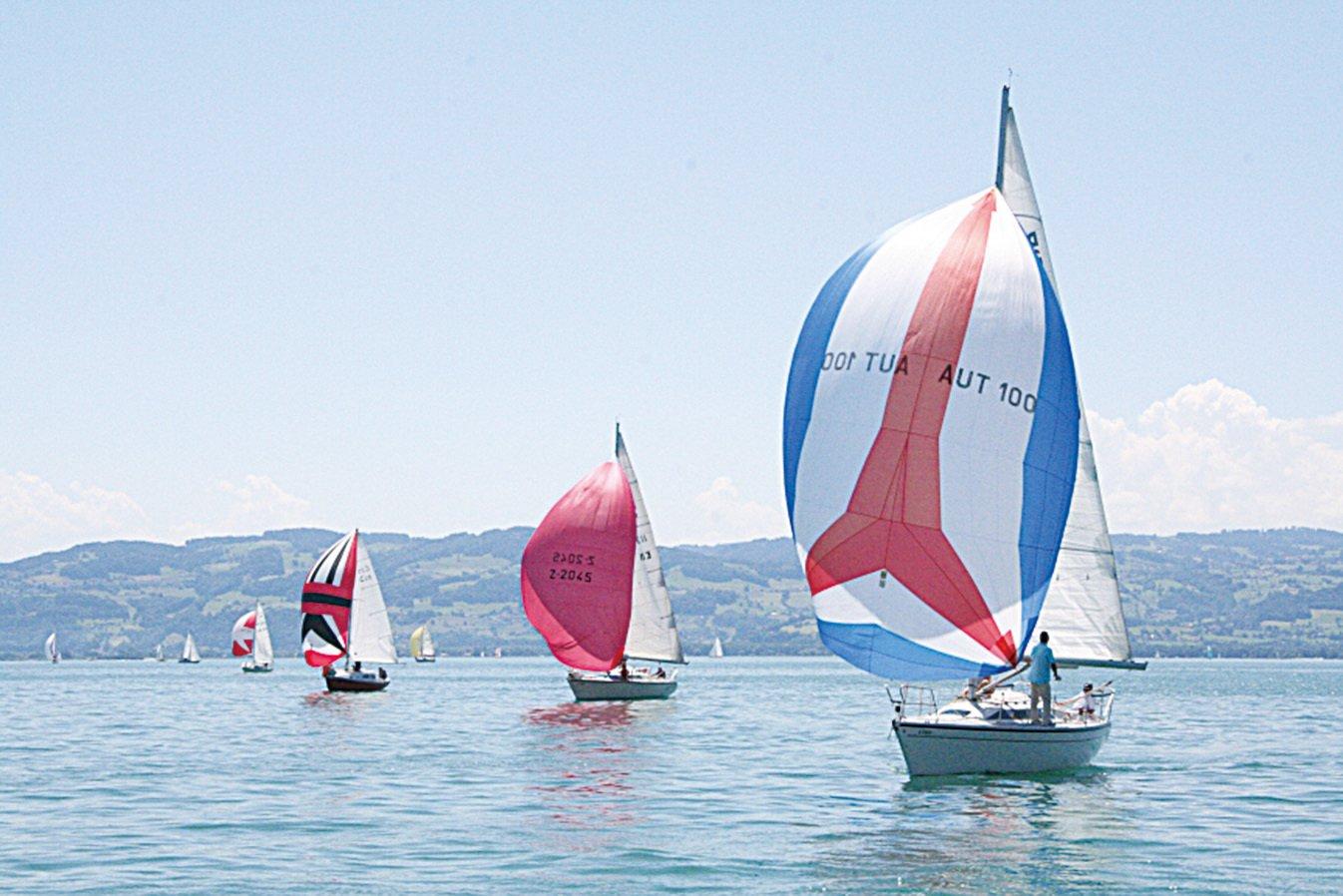 博登湖上航行的帆船。(維基百科)