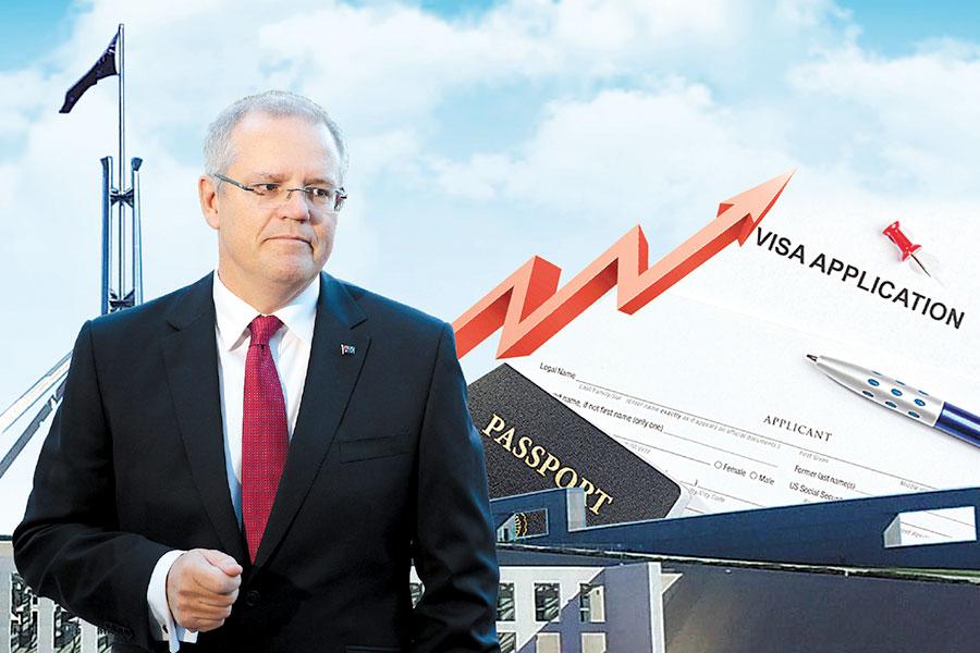 7月1日起,澳洲所有簽證費將上調。(大紀元合成圖)