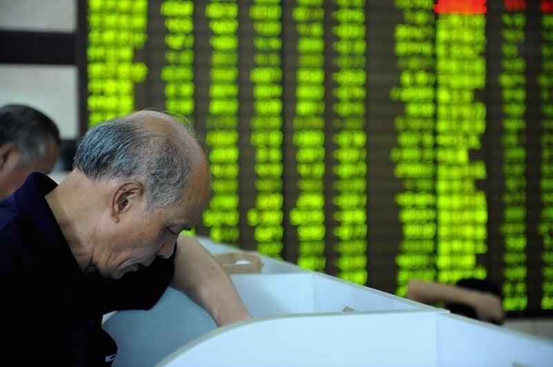這一個月來,大陸A股持續下跌。A股跌幅居前的個股曝出炒作風波。(Getty Images)
