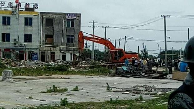 廣西北海白虎頭村4戶村民的住房,於5月11日再次遭到當局強拆。(受訪者提供/自由亞洲電台)