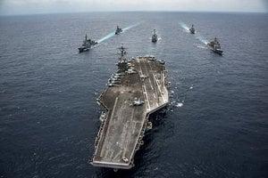 美國航母攜五千軍人訪越南 向中共發出信號