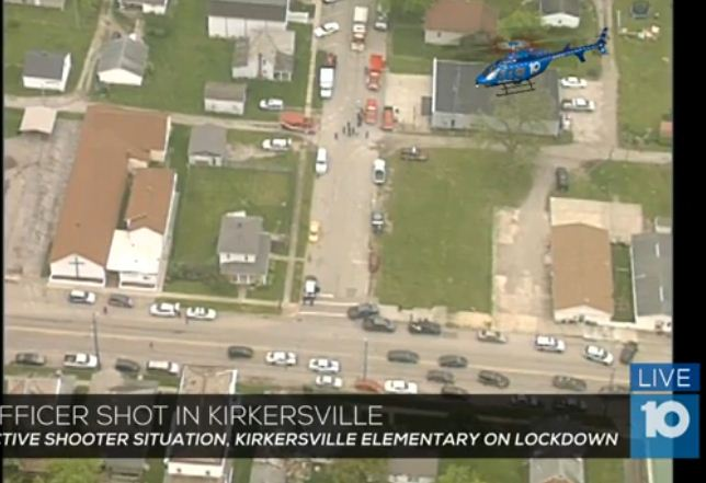 周五(5月12日),美國俄亥俄州一個養老院發生槍擊血案,三人被槍手打死,包括一名警察局局長。槍手自己也已經死亡。(視像擷圖)