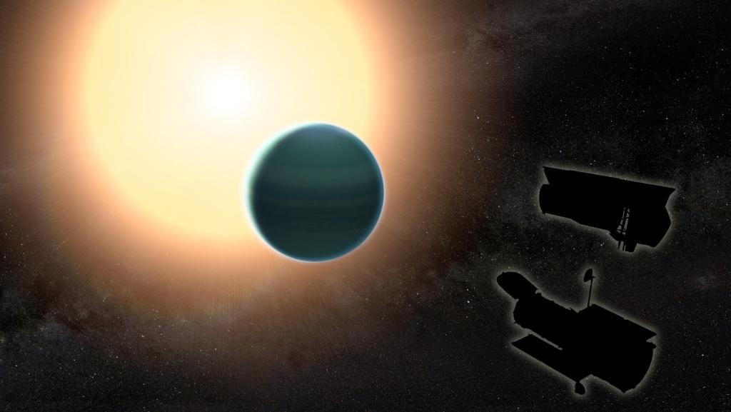 溫海王星的模擬圖。(NASA/GSFC)