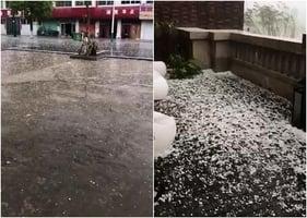 安徽百餘鄉鎮刮強風 甘肅白銀突降冰雹