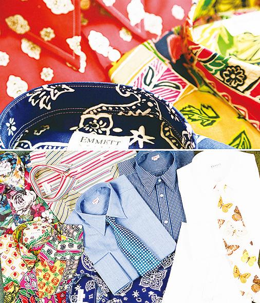 Emmett London早期印花襯衫,顏色使用大膽,給倫敦襯衫業帶來新意。(Emmett 提供)