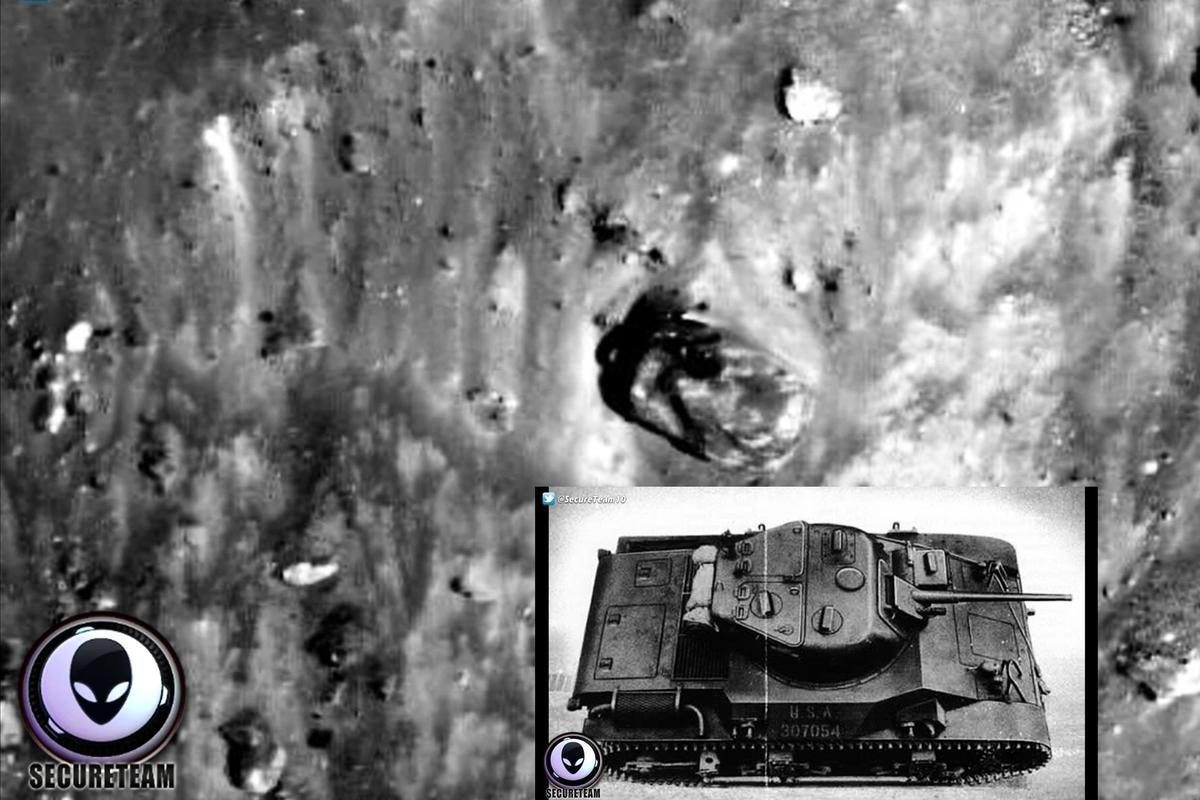 神秘形狀與真正坦克的對比。(SecureTeam 10視像擷圖組圖)