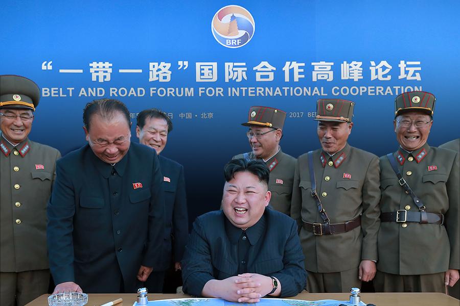 北韓選在29個國家的元首集聚北京之際發射導彈,明顯衝擊習近平當局召開「一帶一路高峰論壇」的政治效應,不僅向外界表明習近平當局無力阻止北韓核試,更有攪局北京峰會的意味。特朗普透露中美達成「驚人協議」,暗示「一兩個月後會發生大事」,給外界留下巨大懸念。(STR, KENZABURO FUKUHARA/AFP/Getty Images/大紀元合成)