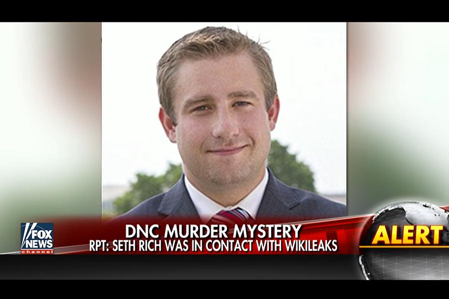 消息來源告訴霍士,去年7月10日在華盛頓DC街頭被槍殺的民主黨全國委員會(DNC)職員曾經向維基解密洩露數千份內部電郵。(視像擷圖)