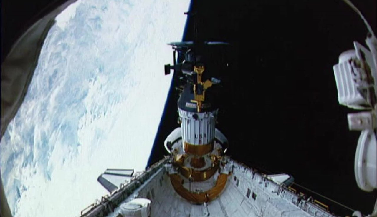 科學家使用儀器在太空中拍攝這種閃光。(NASA視像擷圖)