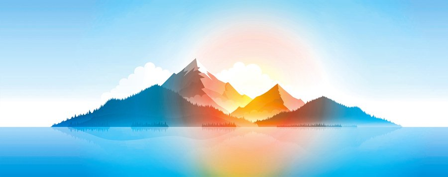 心靈隨筆  日常藍調:山的顏色