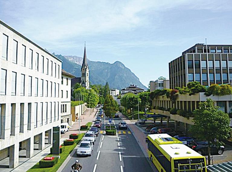 瓦杜茲市中心景觀。(維基百科)