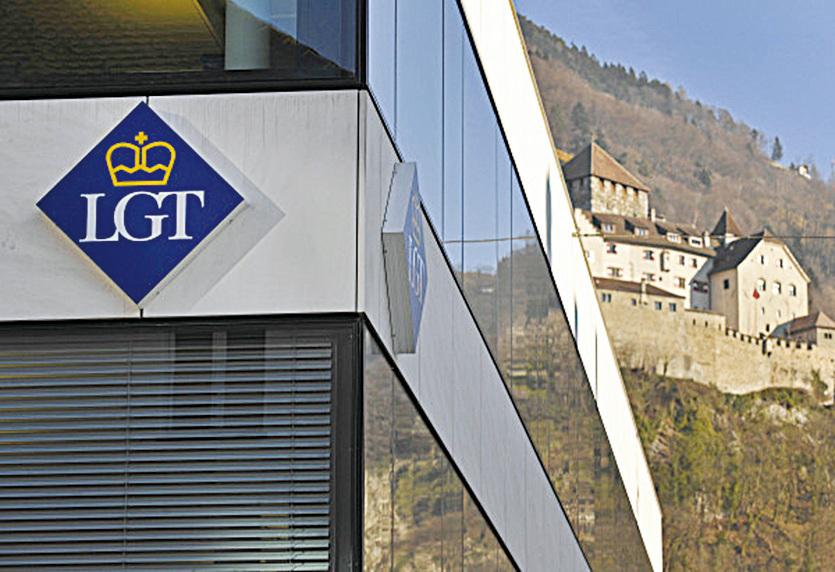 列支敦士登王室所擁有的LGT銀行 。(FABRICE COFFRINI/AFP/Getty Images)