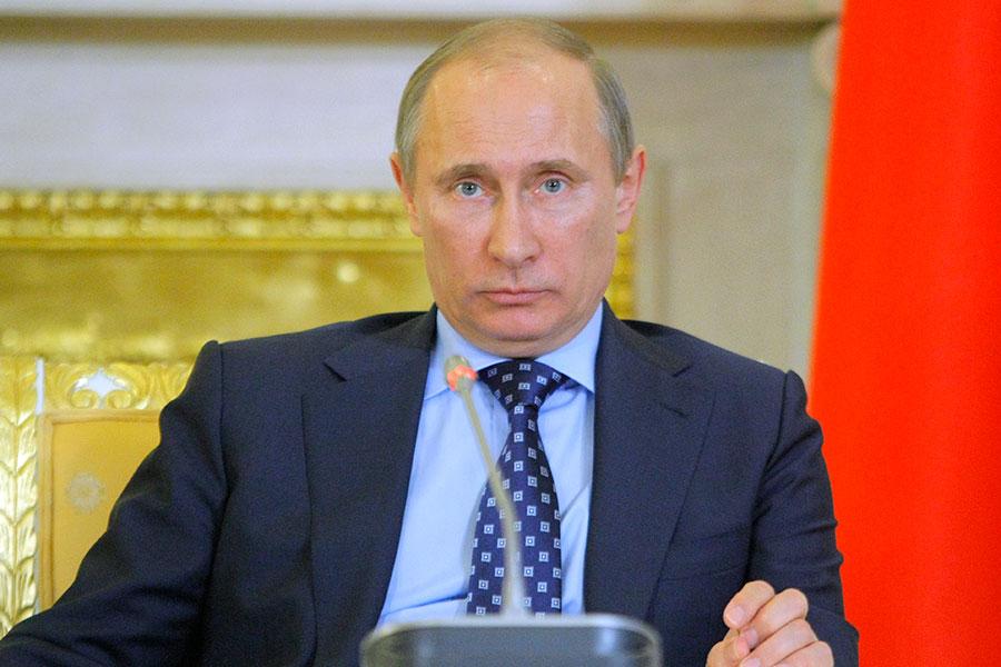 俄羅斯總統普京周三(5月17日)說,他願意向美國國會提供特朗普跟俄羅斯高級特使的談話細節,可能將為洩密疑雲揭示更多真相。(MIKHAIL METZEL/AFP/Getty Images)