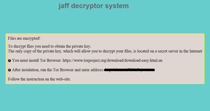 政府收近百 勒索軟件「Jaff」電郵