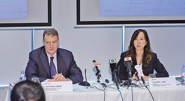 瑞銀18日發表瑞銀投資者觀察報告,近80%香港富豪認為,目前處於歷史上最不可預測的時期。(宋碧龍/大紀元)
