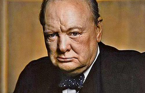 前英國首相邱吉爾長期罹患憂鬱症並不時發作,他管憂鬱症叫做「黑狗」。(網絡圖片)