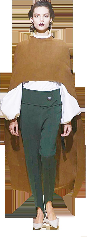 棕色和墨綠色都是大地色,和白色搭配一起能夠帶出成熟、傳統的氣質。(Getty Images)