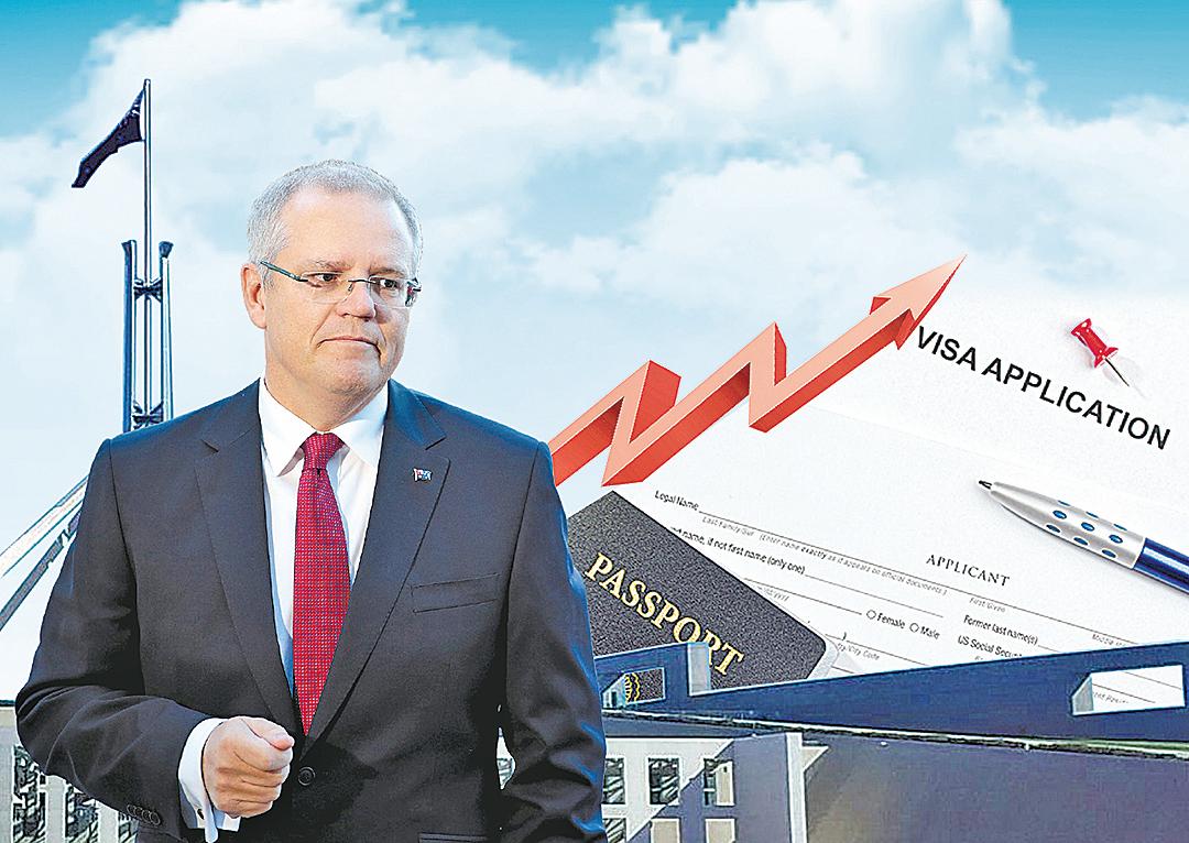 7月1日起,澳洲所有簽證費將上調。(大紀元製圖)