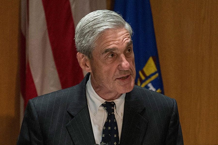 周三(5月17日),前FBI局長穆勒(Robert Mueller)被任命為特別檢察官,負責調查俄羅斯干預2016年大選和特朗普團隊跟俄羅斯可能的牽連。(Andrew Burton/Getty Images)