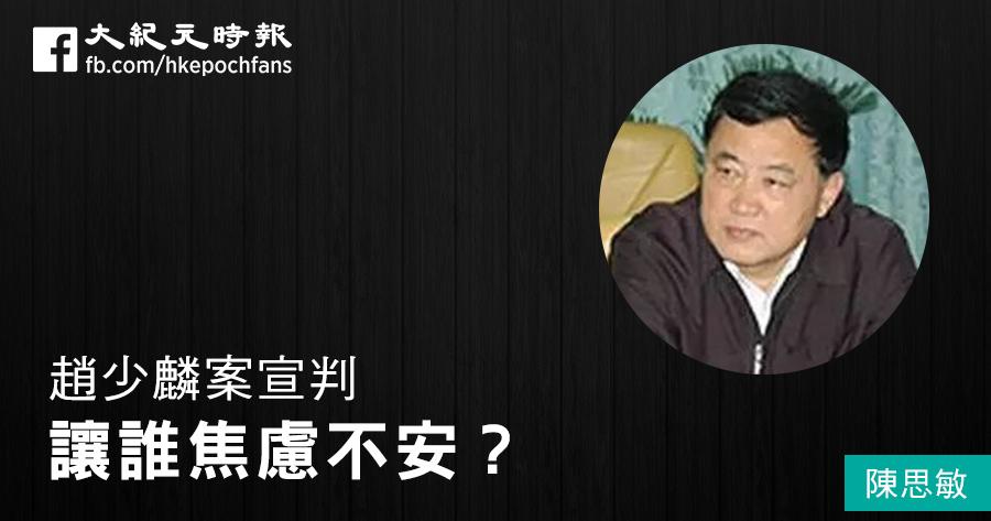 陳思敏:趙少麟案宣判讓誰焦慮不安?