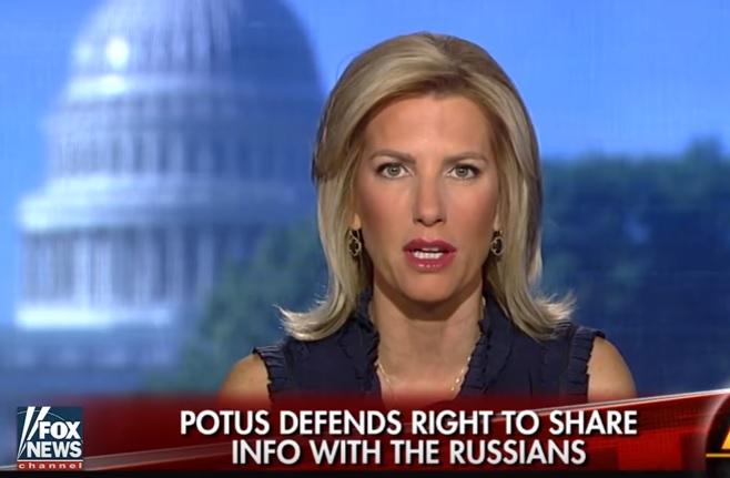 美國脫口秀主持及保守派時事評論員英格拉罕姆表示,特朗普政府中有內鬼。向俄羅斯外交官洩露機密信息的人不是特朗普總統,而是想蓄意打擊他的情報圈內的人。(霍士新聞擷圖)