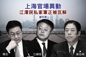 謝天奇:上海官場異動 江澤民私家軍正被瓦解