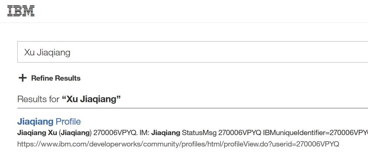 IBM網站仍可看到徐家強的名字。(IBM網站擷圖)