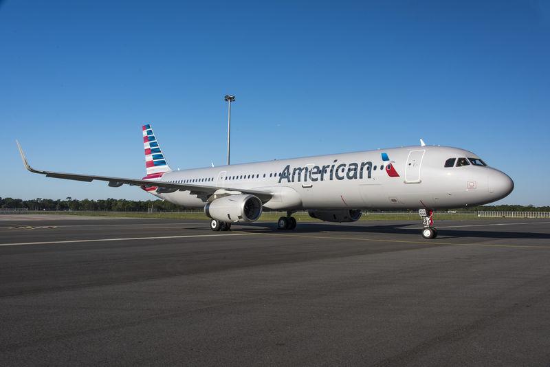 5月19日,美航一架客機上出現干擾,兩架戰鬥機護航。圖為一架同型號的美航A321客機。(Airbus)