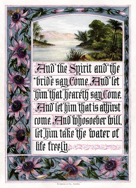 1880年英國出版的《聖經・啟示錄》封面。(維基百科公共領域)