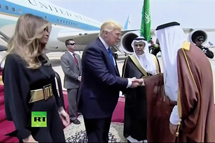 特朗普訪沙特簽數千億美元交易