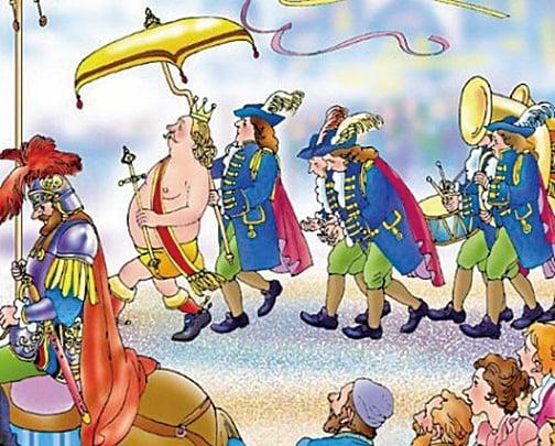 安徒生童話《皇帝的新裝》插圖(網路圖片)
