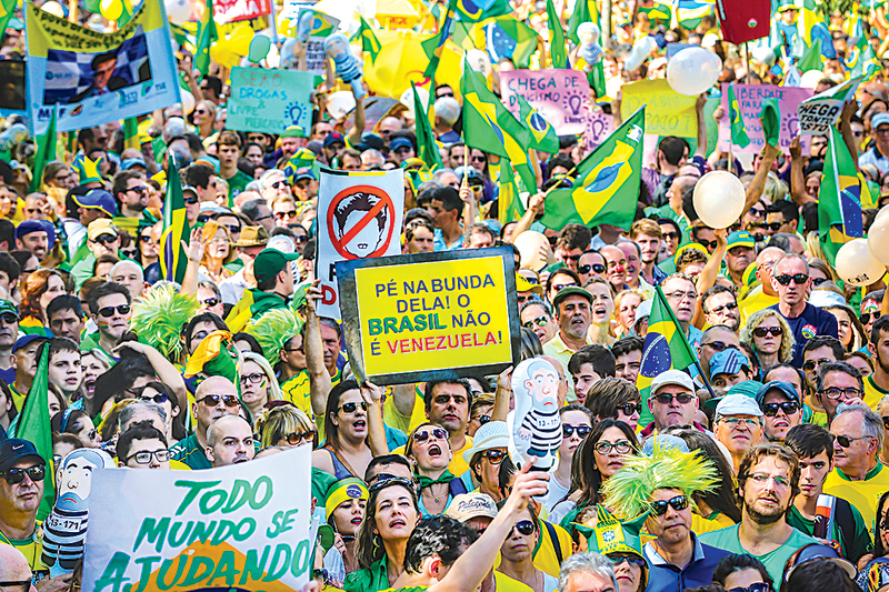 巴西民怨沸騰 340萬人上街叫總統下台