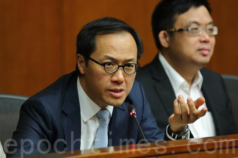 梁繼昌表明不會退出專責委員會。(蔡雯文/大紀元)