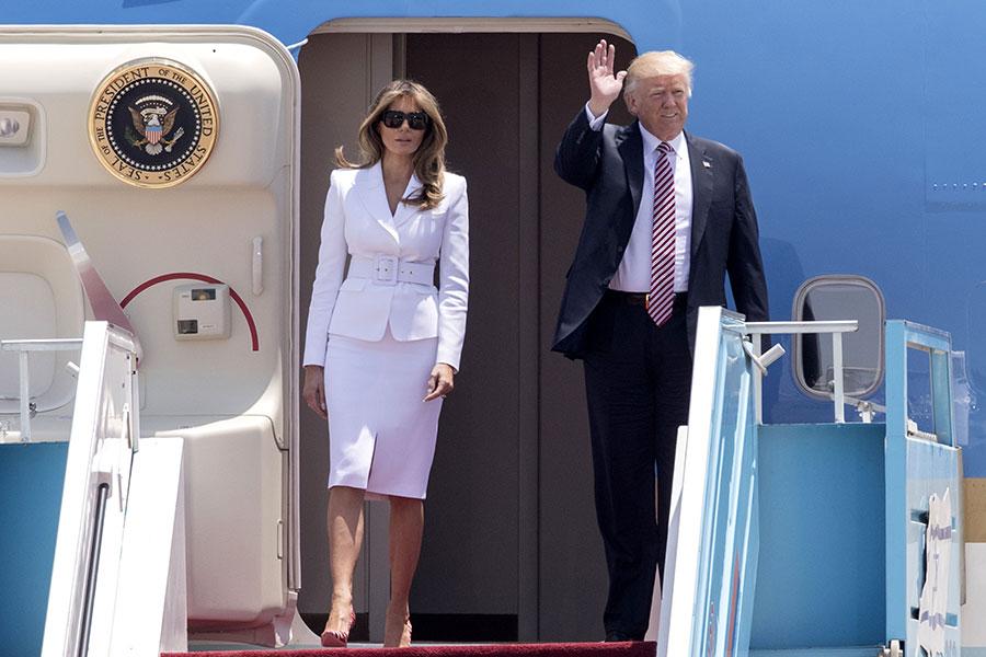 特朗普此次訪問以色列的目的是加強美以兩國關係,並促進以巴和平進程。(JACK GUEZ/AFP/Getty Images)