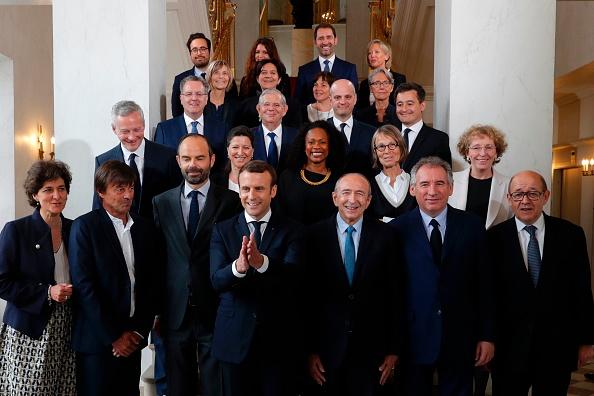 馬克隆的新政府內閣成員23人,其中有3位國務部長、16位部長和4位國務秘書。(PHILIPPE WOJAZER/AFP/Getty Images)