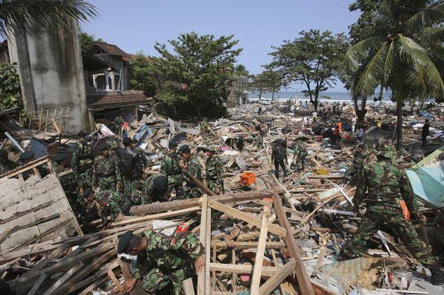 2016年中國有740萬居民因為自然災難在國內流離失所。圖為洪水肆虐後的景象。(Cancan Chu/Getty Images)