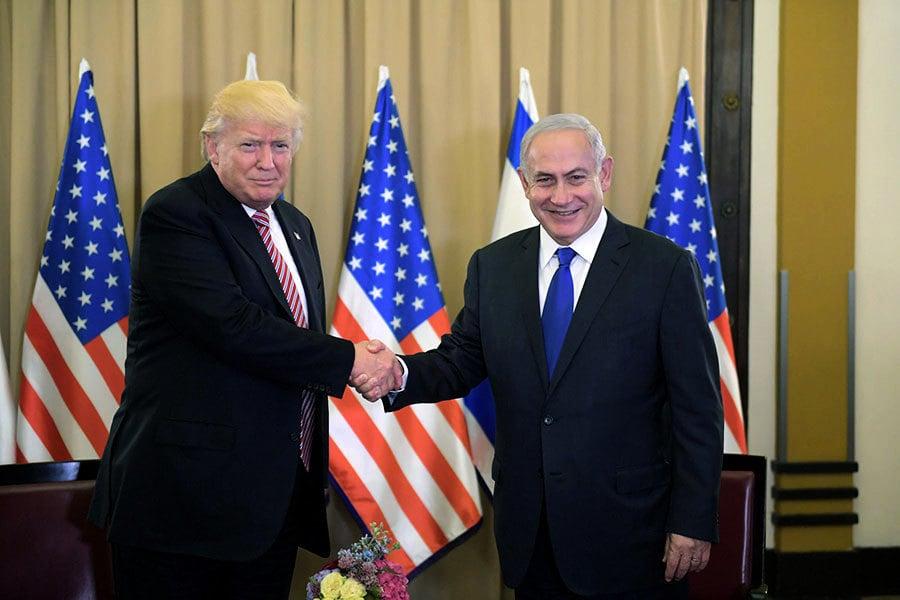 首訪以色列如「踩高蹺」 特朗普展示平衡力