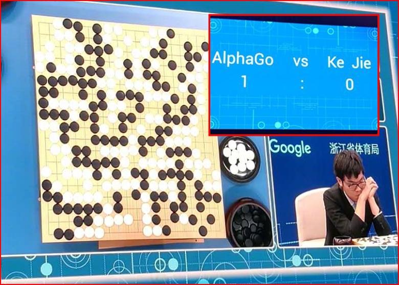 人機圍棋大戰 首戰柯潔以四分一子負於AlphaGo