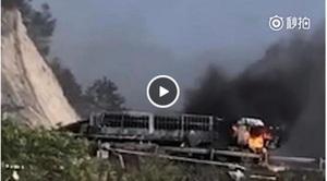 河北高速隧道油罐車爆炸 官方稱有十二死