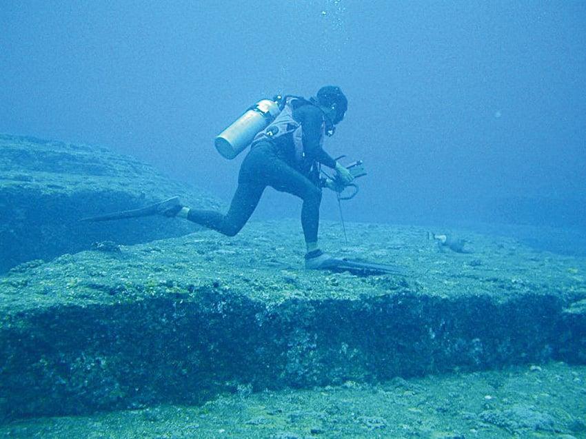 日本琉球群島的與那國島海底遺蹟。(網絡圖片)