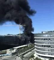 騰訊北京總部二期工地起火 伴有爆炸聲