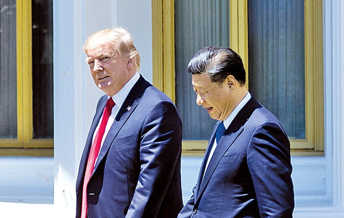 美國和日本幾位消息人士透露,今年4月初在習特會上,中國國家主席習近平要求美國總統特朗普(特朗普)給予為期100天的寬限期。(Getty Images)