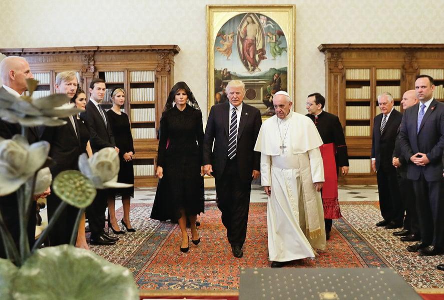 【圖片新聞】 特朗普訪梵與教宗會談半小時