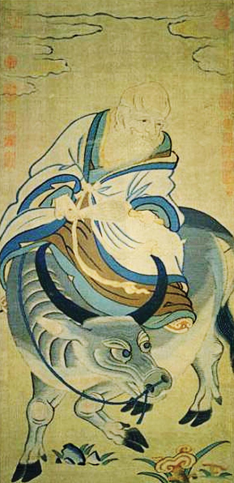 宋緙絲《青牛老子圖》,現藏台北故宮博物院。(公有領域)