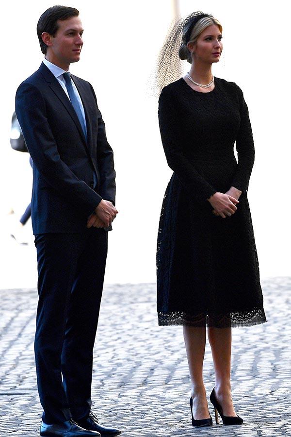伊萬卡和先生庫什納。(VINCENZO PINTO/AFP/Getty Images)