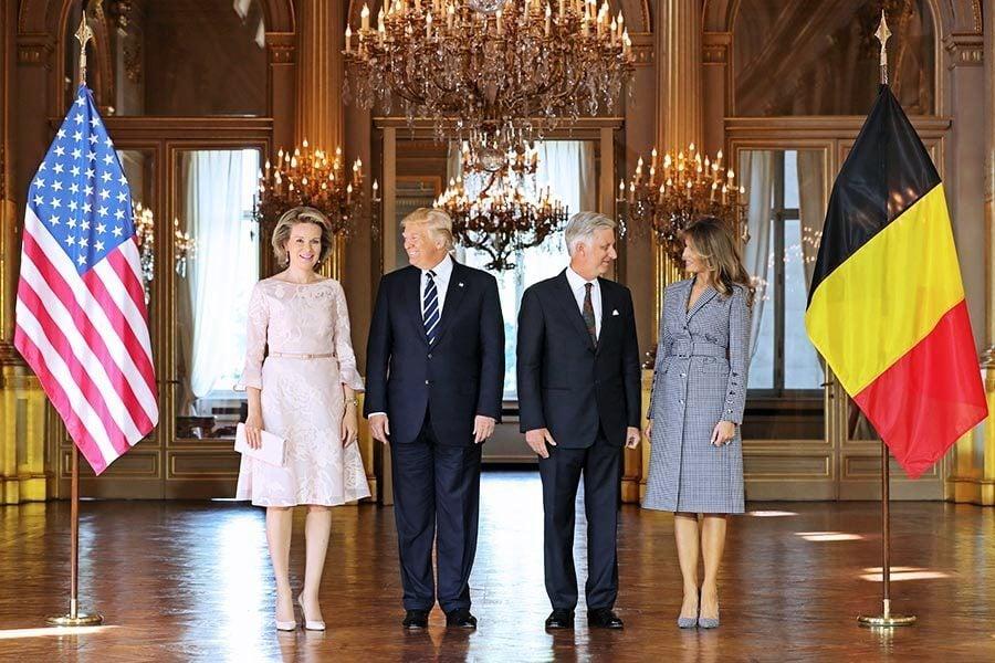 組圖:特朗普攜夫人抵比利時 結束中東之行