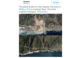 加州風景最優美高速公路被泥石流掩埋