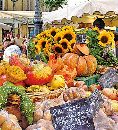 普羅旺斯的蔬果有獨特的南法風情。(大紀元/李哲熙)